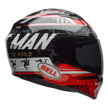 Bell Street 2019 Qualifier DLX Mips Adult Helmet in IOM 18 Black / Red