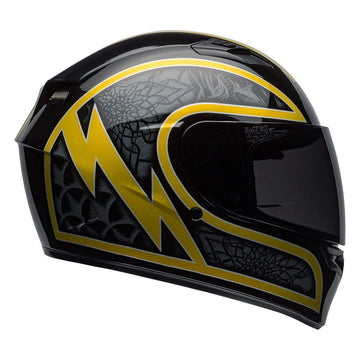 Bell Street 2019 Qualifier STD Adult Helmet in Scorch Black / Gold Flake