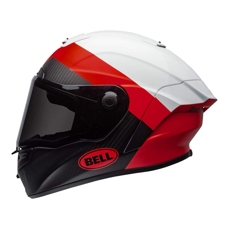 Bell Street 2020 Race Star DLX Adult Helmet in Surge M / G White / Red