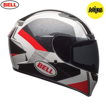 Bell Street Qualifier DLX Mips Adult Helmet in Accelerator Red / Black