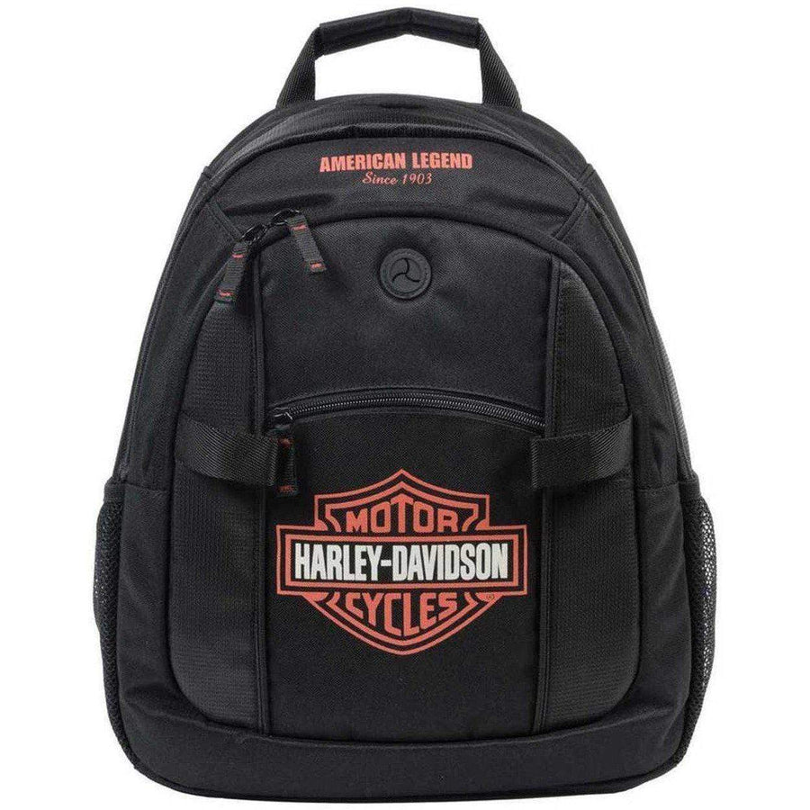Harley-Davidson® Bar & Shield Day Back Pack, Orange Logo