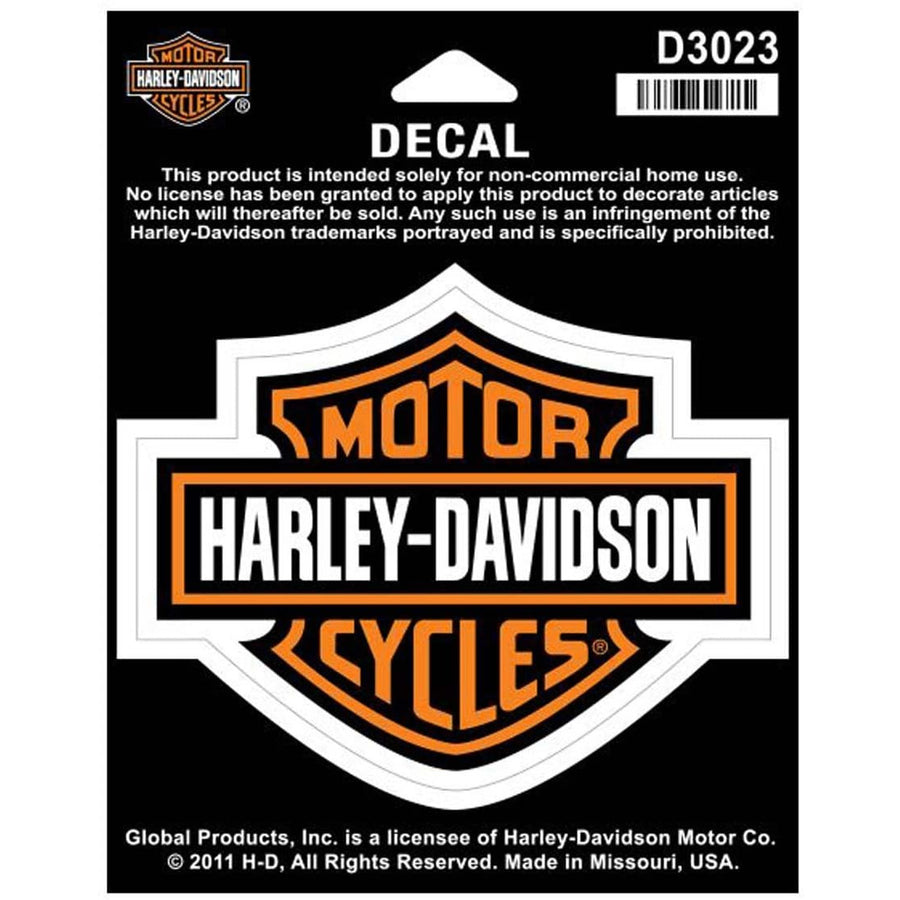Harley-Davidson Accessories Harley Davidson ® Bar & Shield Decal