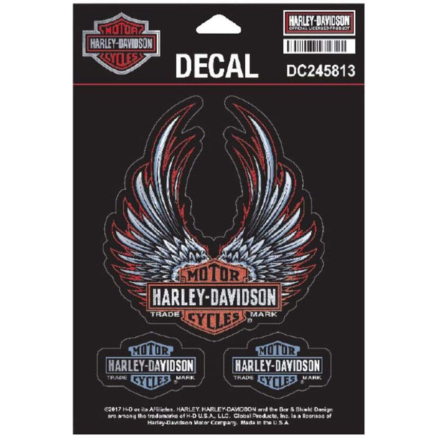 Harley-Davidson® Bliss Winged Bar & Shield Decals