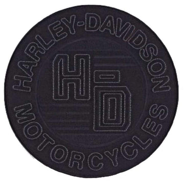 Harley-Davidson® Embroidered 3D Forged Circle Emblem Patch