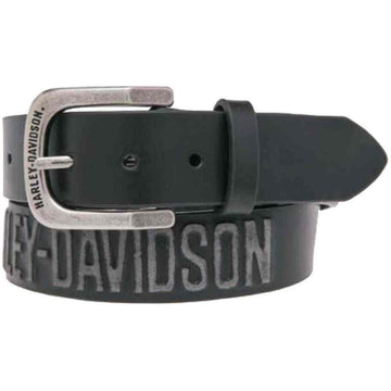 Harley-Davidson® Men's Embossed Highway To Hell Leather Belt
