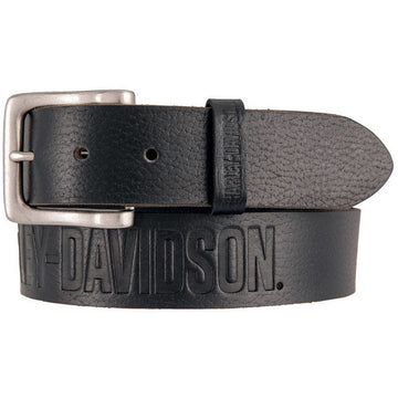 Harley-Davidson® Men's Embossed Ride The Line Leather Belt