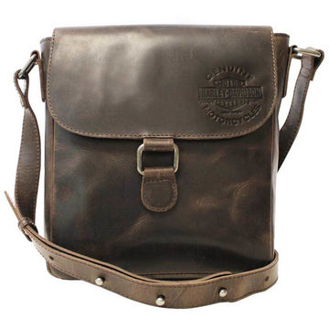 Harley-Davidson Accessories Harley-Davidson® Men's Embossed Rocker Leather Messenger Bag