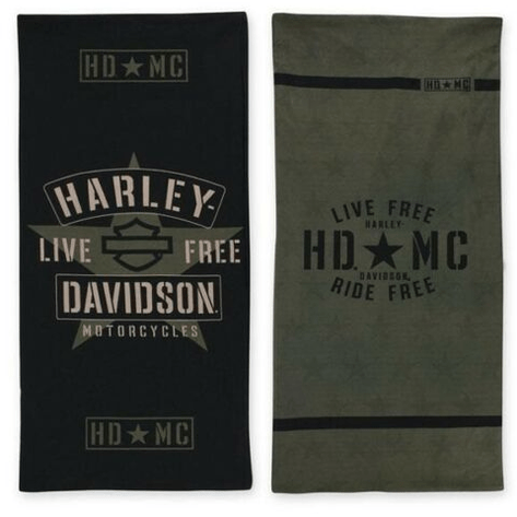 Harley-Davidson Accessories Harley-Davidson® Men's Resolute Star B&S Reversible Multifunctional Headwear