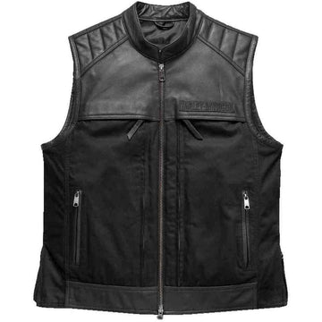 Harley-Davidson Accessories Harley-Davidson® Men's Synthesis Pocket System Leather/Textile Vest