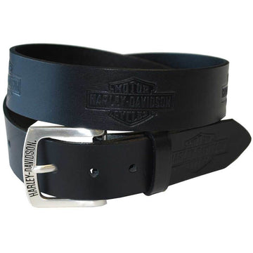 Harley-Davidson® Men's Tradition Bar & Shield Belt Black Leather