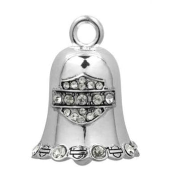Harley-Davidson Accessories Harley-Davidson® White Crystal Bar and Shield Ride Bell