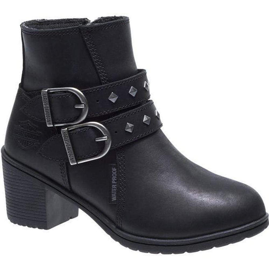 Harley-Davidson® Women's Black Abney Motorcycle Boots
