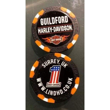 Black Harley-Davidson® Guildford Dealer Poker Chip
