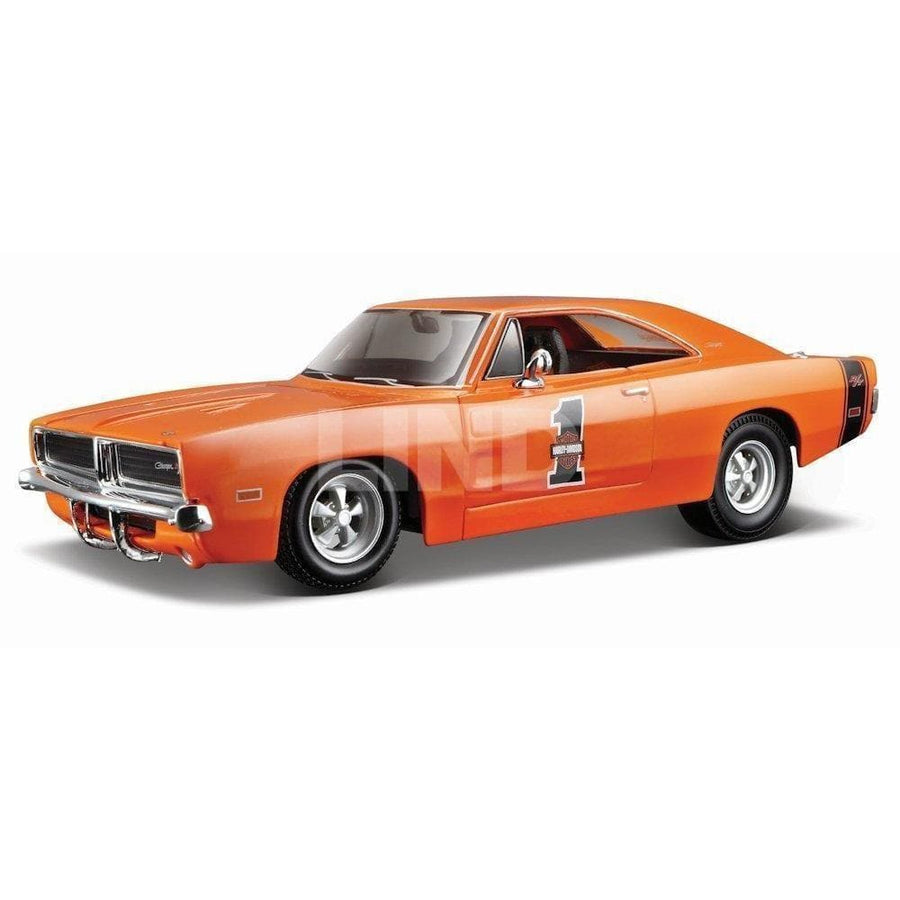 Harley-Davidson® 1969 Dodge Charger R/T [Maisto 32196], Orange, 1:25 Die Cast