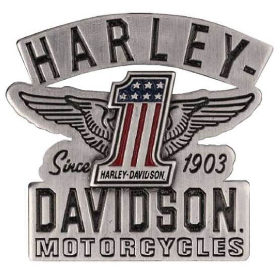 Harley-Davidson Collectables Harley-Davidson® 2D Die Cast RWB #1 Wings Pin