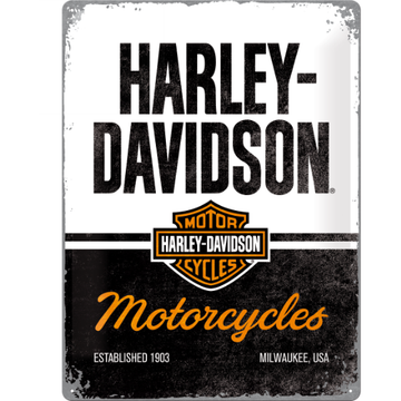 Harley-Davidson Collectables Harley-Davidson® Milwaukee Large Embossed Tin Sign