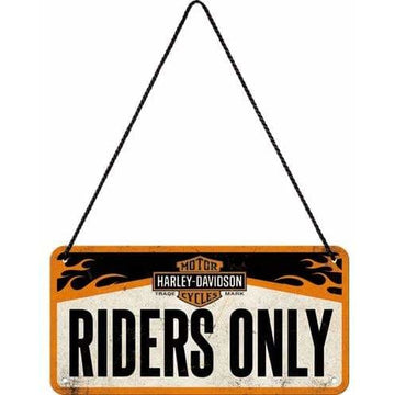 Harley-Davidson Collectables Harley-Davidson® Nostalgic Art Riders Only Hanging Sign