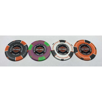 Harley-Davidson® Reading Poker Chips - Set of 4