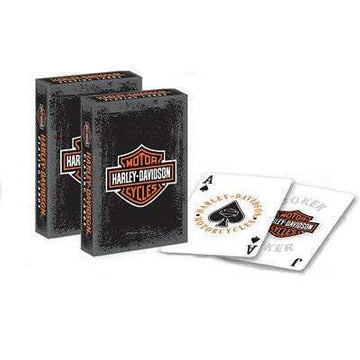 Harley-Davidson Collectables Harley-Davidson® Rustic Bar & Shield Logo Standard Size Playing Cards Deck