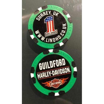 Harley-Davidson Collectables Pink Harley-Davidson® Guildford Dealer Poker Chip