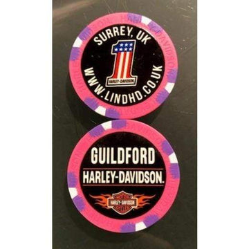 Pink Harley-Davidson® Guildford Dealer Poker Chip