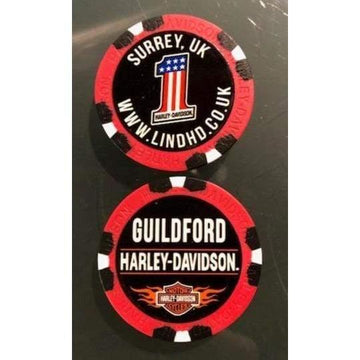 Red Harley-Davidson® Guildford Dealer Poker Chip