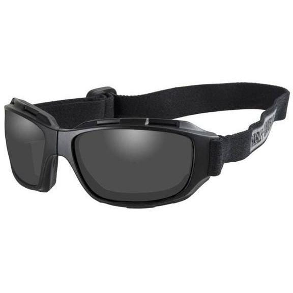 Harley-Davidson® Men's Bend Gray Lens Goggles, Collapsible Black Frames