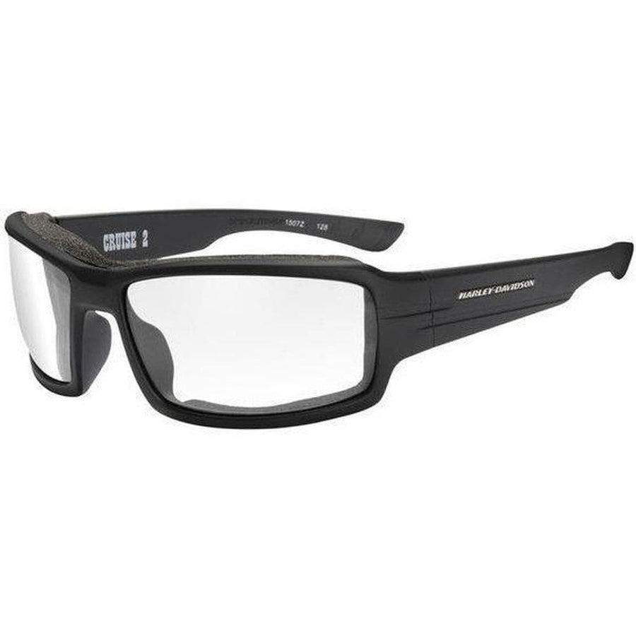 Harley-Davidson® Men's Cruise 2 Gasket Sunglasses, Clear Lens/Black Frame
