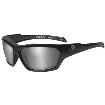 Harley-Davidson® Men's Drag Gasket Sunglasses, Grey Lens / Black Frames WileyX