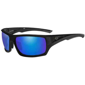 Harley-Davidson® Men's Ink Bar & Shield Sunglasses, Blue Mirror Lenses HAINK12
