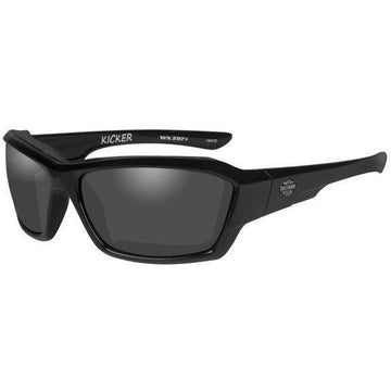 Harley-Davidson® Men's Kicker Sunglasses, Smoke Grey Lens/Black Frame