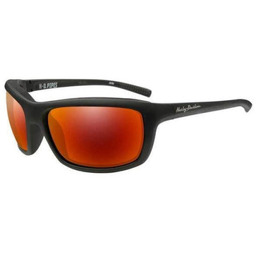Harley-Davidson® Men's Pipes Sunglasses, Red Mirror Lenses WileyX