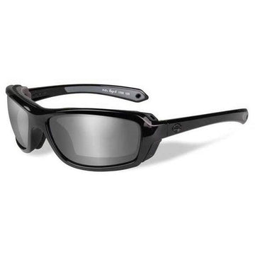 Harley-Davidson® Men's Rage Sunglasses, Silver Flash Lens / Black Frame