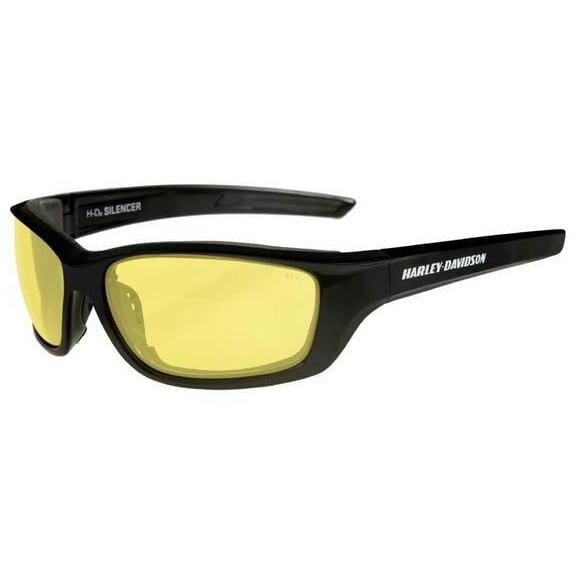 Harley-Davidson® Men's Silencer Sunglasses, Yellow Lens/Gloss Black Frame