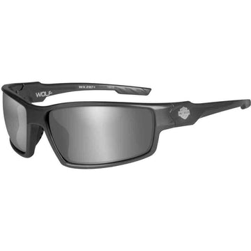 Harley-Davidson® Men's Wolf Bar & Shield Sunglasses, Gray Lens & Frames