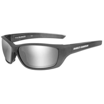 Harley-Davidson® Mens Silencer Sunglasses, Silver Flash Lenses/Gray Frame