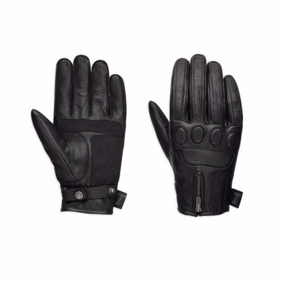 Harley-Davidson® #1 Skull Men's Leather Motorcycle Gloves