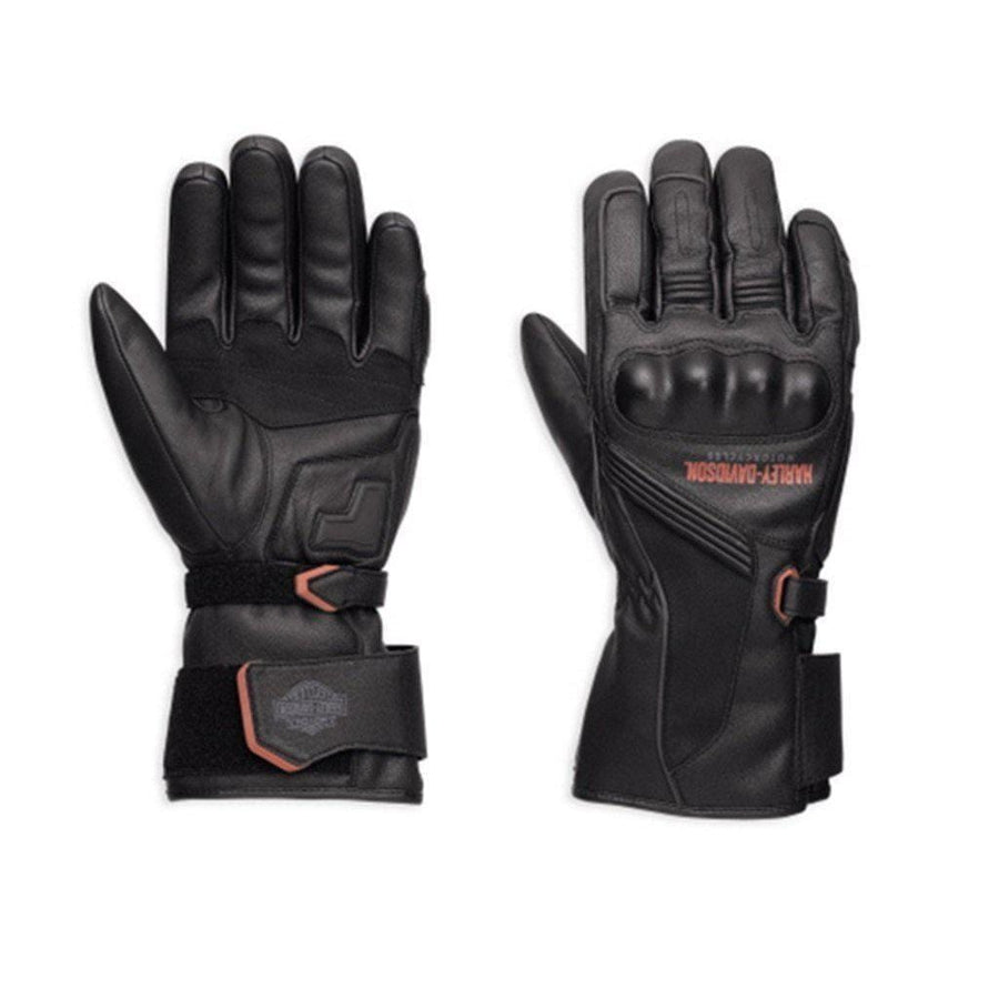 Harley-Davidson® Men's Messenger Leather Gauntlet Gloves