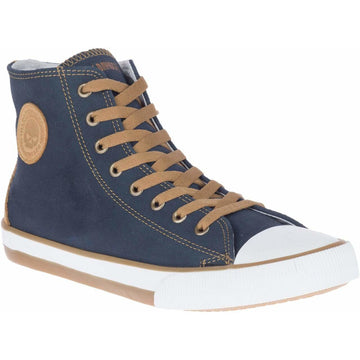 Harley-Davidson® Men's Filkens  Blue Leather  Hi-Top Sneakers/Trainers