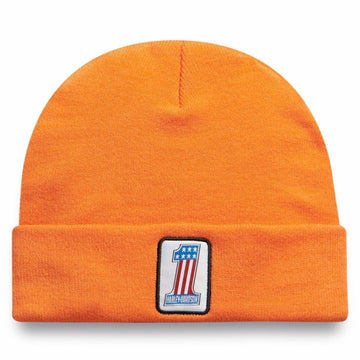 Harley-Davidson Hats Harley-Davidson® Men's #1 Logo Knit Cap | Orange