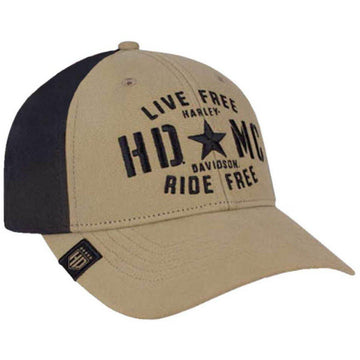 Harley-Davidson® Men's Military Star Colorblocked Baseball Cap