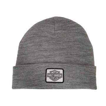 Harley-Davidson® Men's Traditional Logo Cuffed Beanie Hat Grey