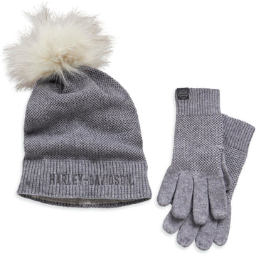 Harley-Davidson Hats Harley-Davidson® Woman's Knit Hat and Glove Set