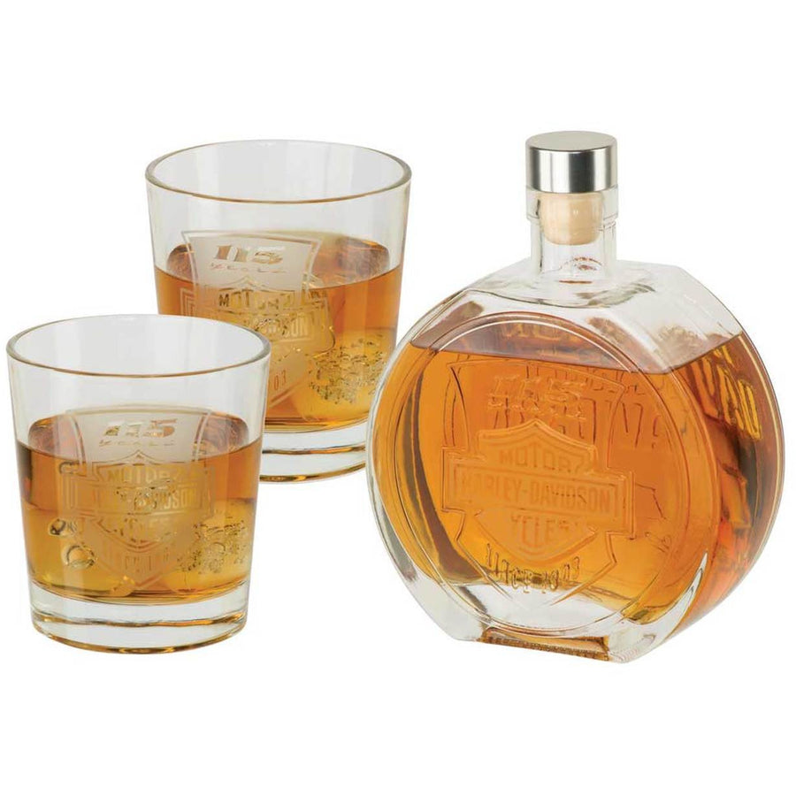 Harley-Davidson® 115th Anniversary Limited Edition Decanter Set