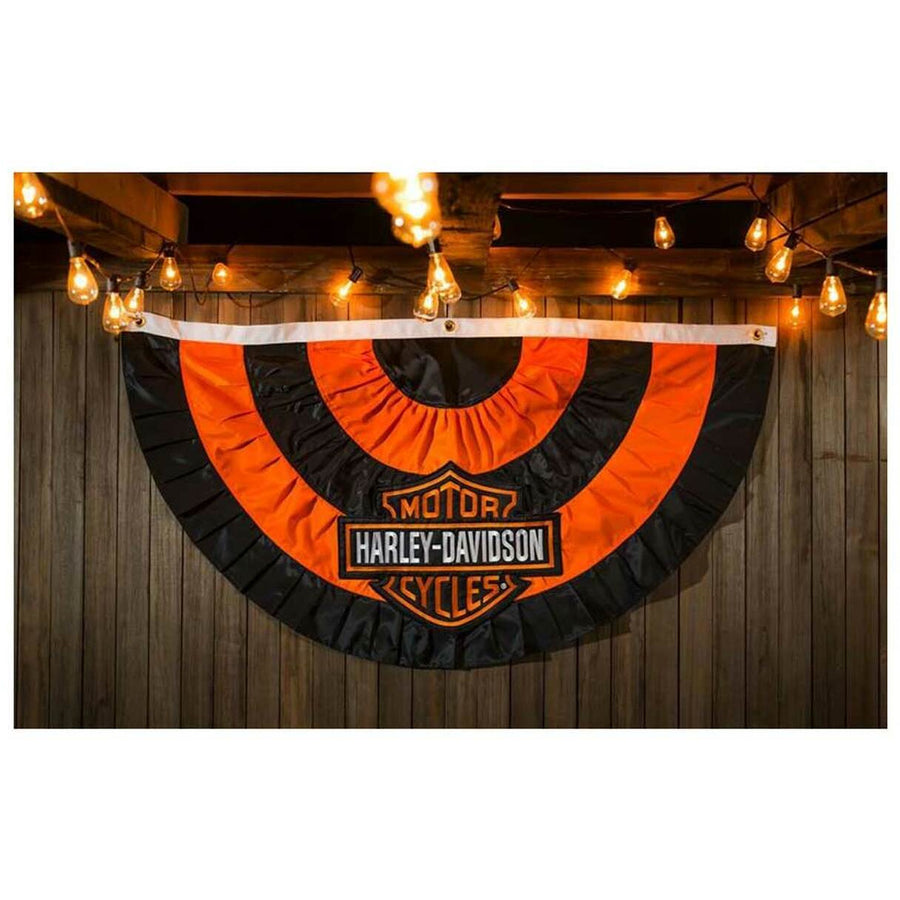 Harley-Davidson Homeware Harley-Davidson® Bar & Shield Logo Applique Bunting Flag,