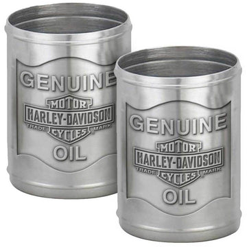 Harley-Davidson® Custom Tooled Pewter Oil Can Shot Glass Set