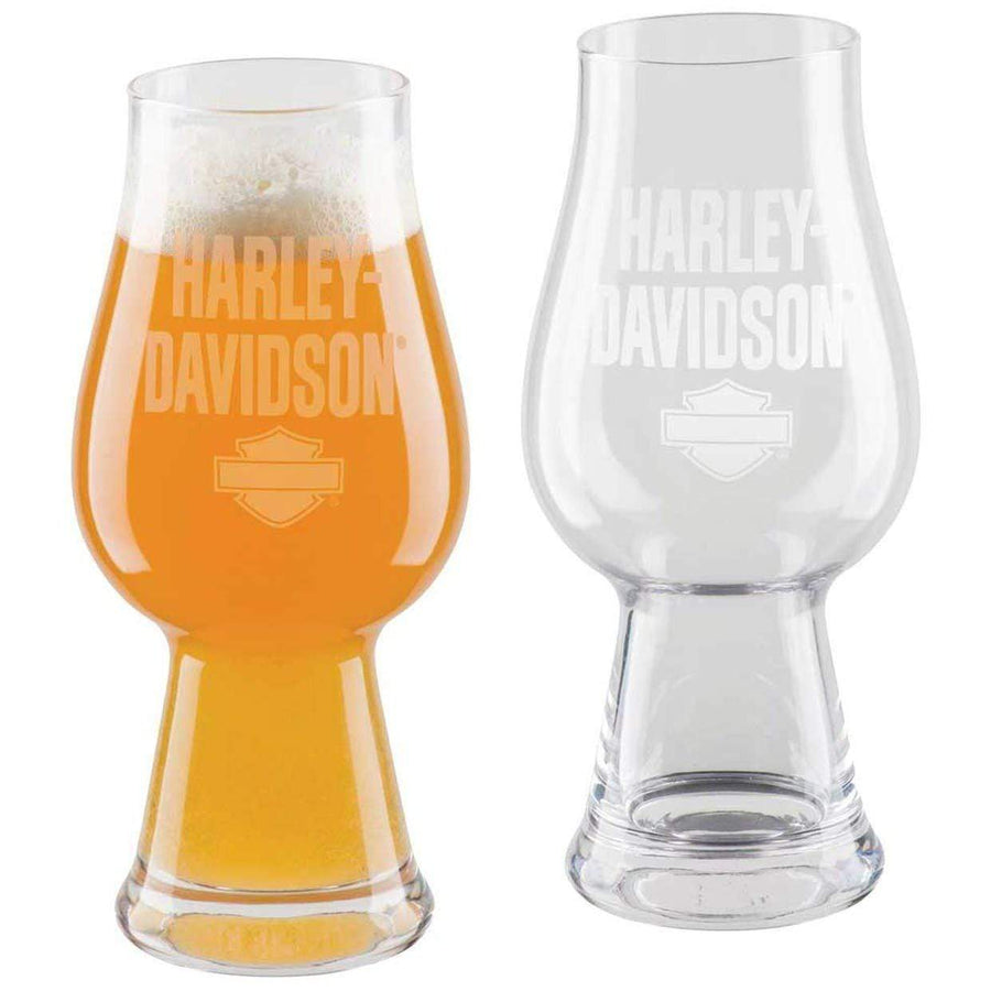 Harley-Davidson® Etched H-D Text IPA Glass Set - Set of 2