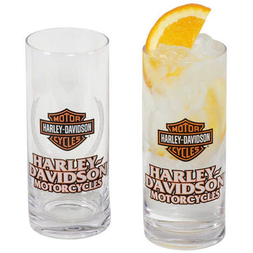 Harley-Davidson® Motorcycles Bar & Shield Highball Glass Set
