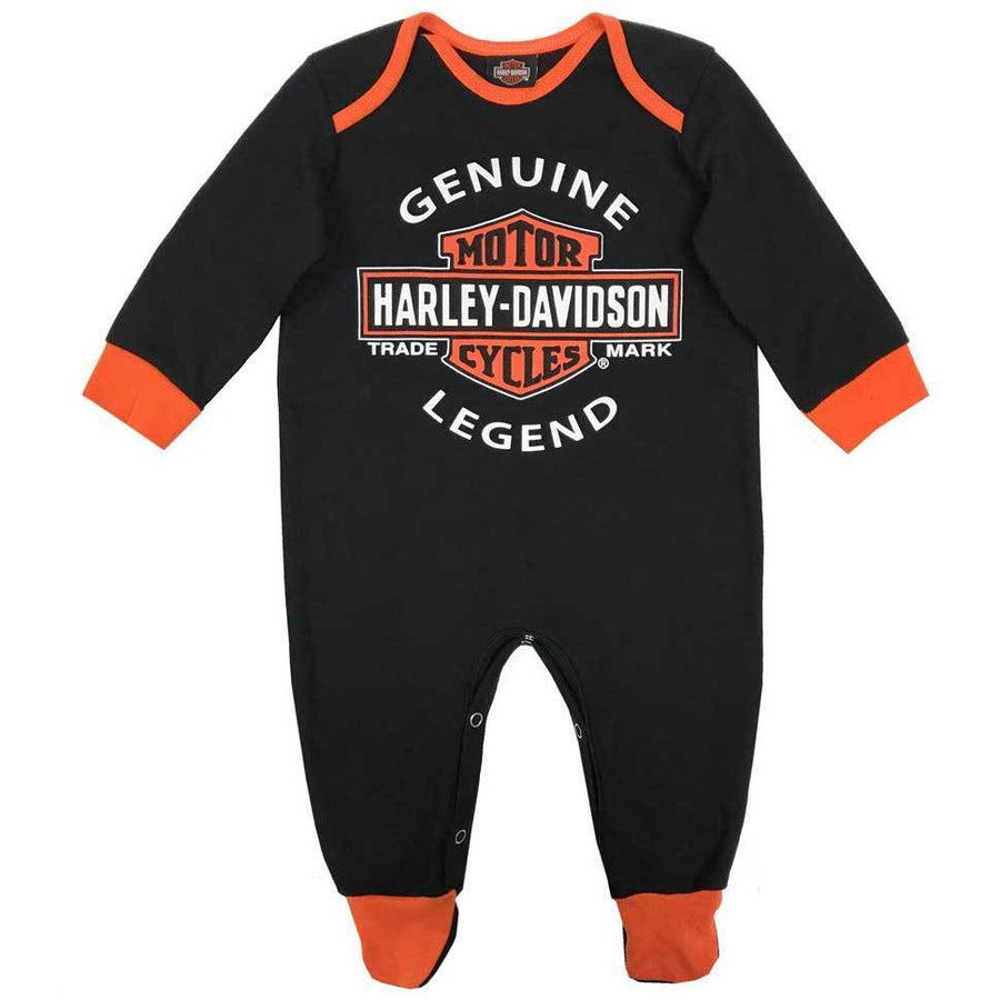 Harley-Davidson Kids Harley-Davidson® Baby Boys' Interlock B&S Footed Coveralls 6-9 Months