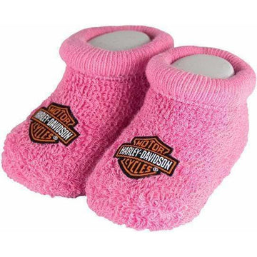 Harley-Davidson Kids Harley-Davidson® Baby Girls' Boxed Stretch Terry Booties